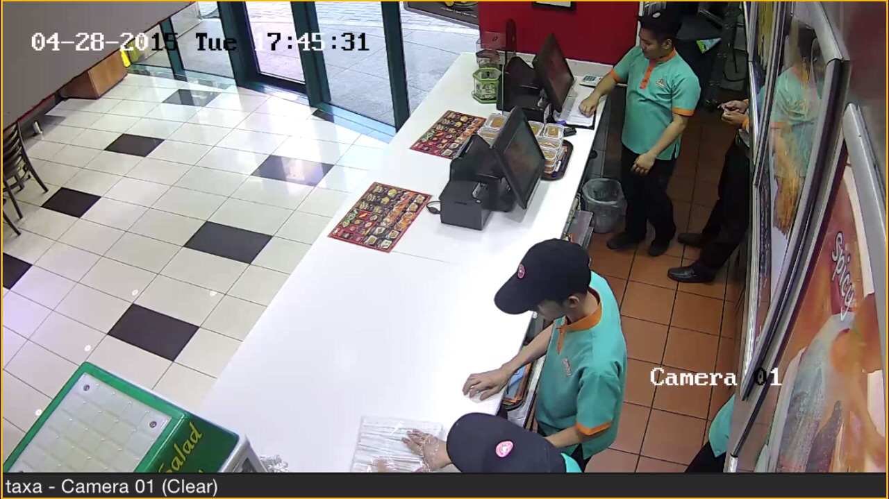 CCTV INSTALLATION AND MOBILE VIEW OF CAMERA