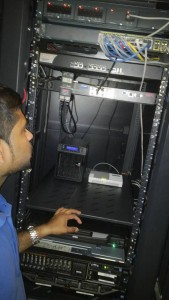 APC temperature control unit installation for server room in AL Marjan Island RAK