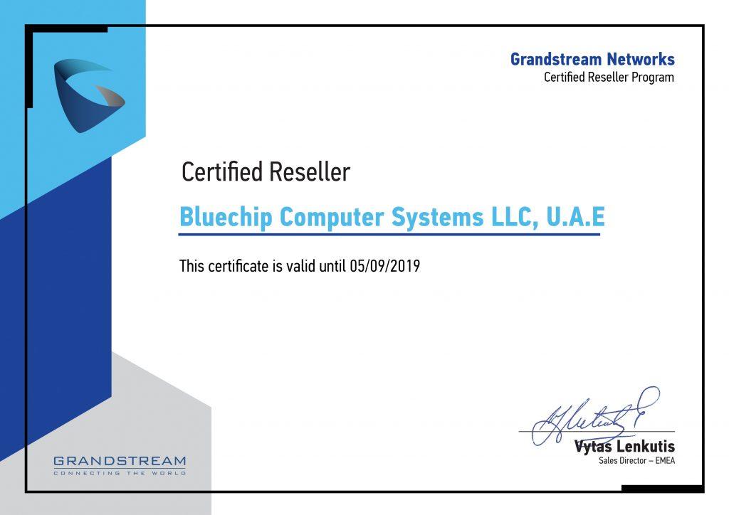 Bluechip Certificate 2018
